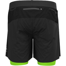 "Odlo Axalp Trail 6 ""2-i-1 shorts Herrer, sort"